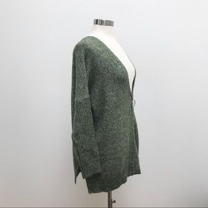 Zip Up V Neck Cardigan Sweater Soft Surroundings